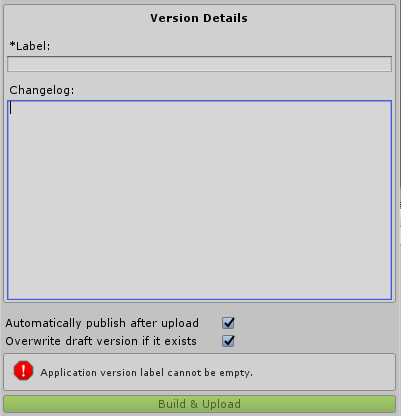 Version Details Window
